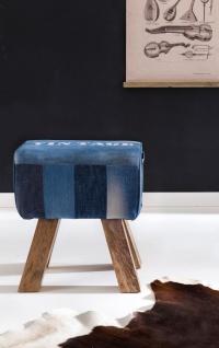 Hocker Sitzhocker Sitzbank POCKET Massivholz 40x30x47cm - Vorschau 5