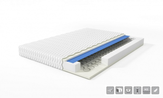 Polsterbett Bett VERONA Komplettset Polyesterstoff Rose 160x200cm - Vorschau 5