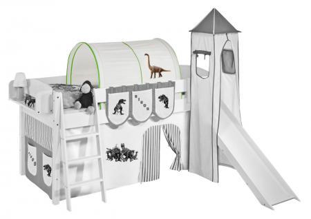 Tunnel Dinos Grün - für Hochbett, Spielbett und Etagenbett