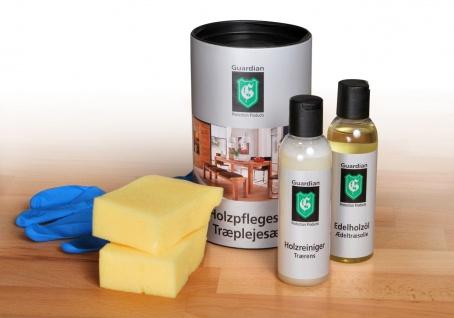 Holzpflege /Holzpflegeset / Massivholz Reiniger und Pflegeset Guardian