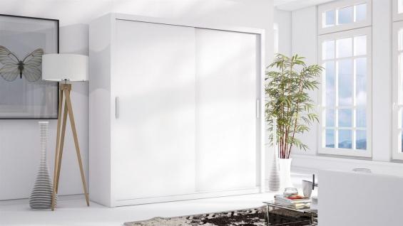 Schiebetürenschrank Schrank LUND Weiss matt 200x215 cm