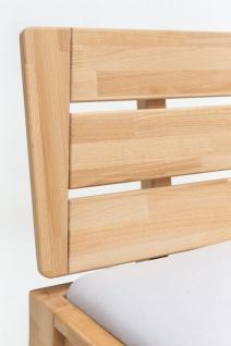 Massivholzbett Schlafzimmerbett RENO Bett Kernubuche massiv 180x200 cm - Vorschau 5