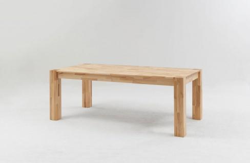 Esstisch Funktionstisch RIEMS Tisch 120/200 x 80 Wildeiche massiv