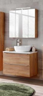 Badmöbel Set 3-tlg Badezimmerset PERUGIA Eiche ohne Waschbecken 80cm