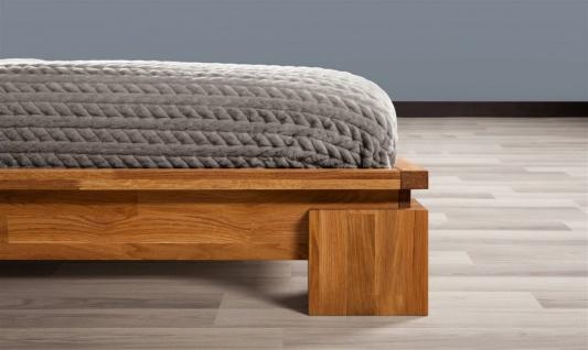 Futonbett Bett Schlafzimmerbet MAISON Eiche massiv 180x200 cm - Vorschau 2