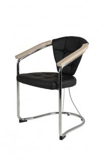 Sessel Stühle Wohnzimmersessel 2er Set CATANIA Schwarz / Sonoma Eiche