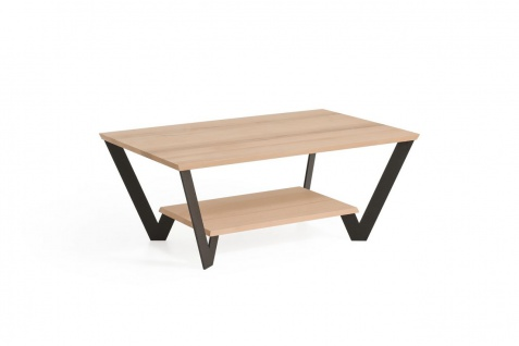 Couchtisch Tisch LIONEL Wildeiche Massivholz 110x70 cm
