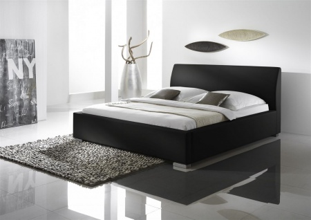 Polsterbett Bett Doppelbett Tagesbett - COSIMO 2 - 200x200 cm Schwarz