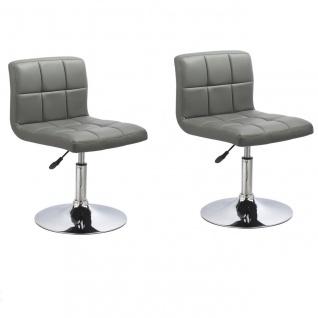 Esszimmerstühle Stuhle Küchenstuhl 2er Set - Bari - Grau