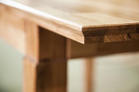 Esstisch Tisch ausziehbar LENNES Kernbuche geölt Natur 120/165x100 cm - Vorschau 3