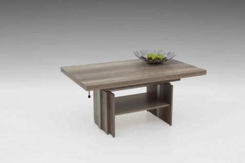 Couchtisch Tisch -Rom- 110- 177 x 68 cm Funktionscouchtisch -Monument Oak
