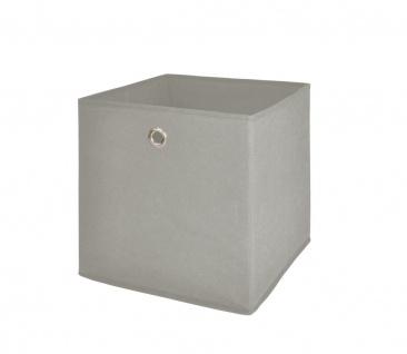 Faltbox Box Stoffbox- Delta - Größe: 32 x 32 cm / 3er Set - Schlamm