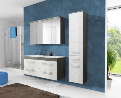 Badmöbel Set 6-tlg Badezimmerset COSM Hochglanz inkl.Waschtisch 120 cm