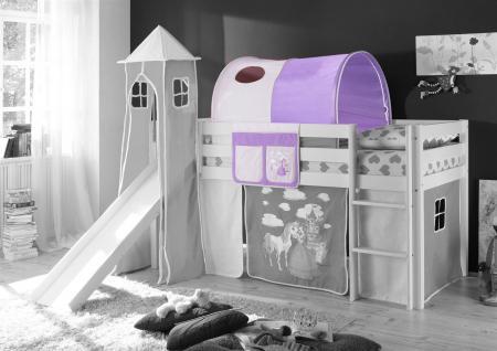 Tunnel Horse LILA / BEIGE für Spielbett Hochbett Etagenbett +Tasche