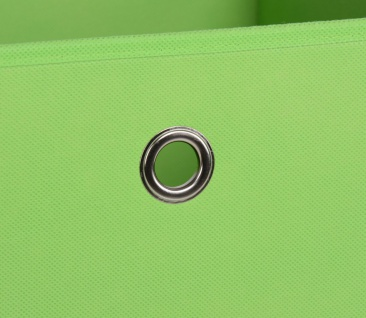 Faltbox Box Stoffbox- Delta - Größe: 32 x 32 cm / 3er Set - Grün - Vorschau 4