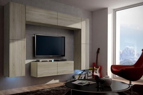 Mediawand Wohnwand 8 Tlg   Konzept 3  Sonoma Eiche Matt