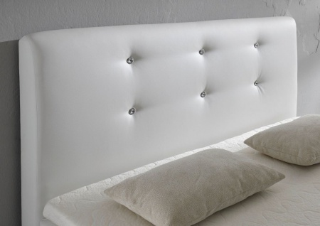 Boxspringbett Schlafzimmerbett MONZA Kunstleder Weiss 120x200 cm - Vorschau 3