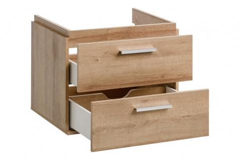 Badmöbel 3-tlg Badezimmerset WENDO Eiche inkl.Waschtisch 60cm - Vorschau 2