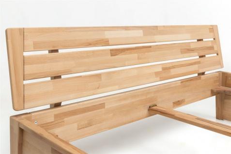 Massivholzbett Schlafzimmerbett RENO Bett Kernubuche massiv 180x200 cm - Vorschau 3