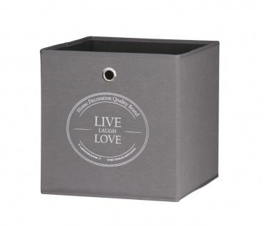 Faltbox Box - LIVE -32 x 32 cm / 3er Set - Anthrazit