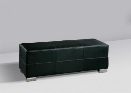 Sitzbank Polsterbank - KARIN - Kunstleder Schwarz 120x45 cm