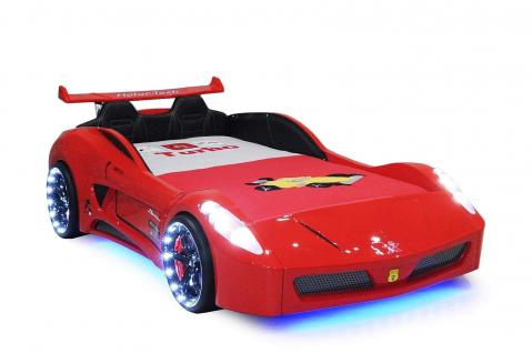 Autobett Kinderbett - Formel GT - Rot inkl.Beleuchtung