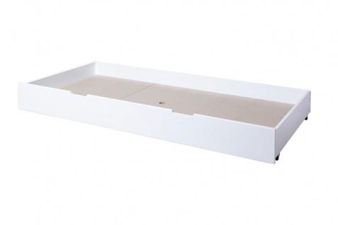 Schubkasten für Einzel- und Etagenbetten LEVIN Buche massiv Weiss