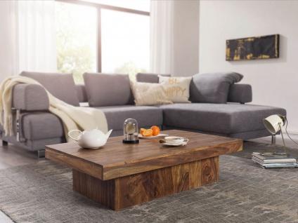 Couchtisch Massivholztisch AMAR 120x70x30 cm Holz Sheesham