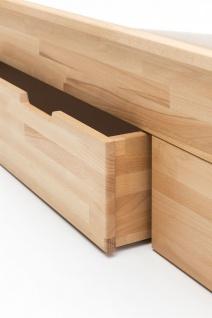 Massivholzbett Schlafzimmerbett RENO Bett Kernubuche massiv 180x200 cm - Vorschau 4