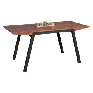 Esstisch Tisch MALIN Vierfußtisch 160x76cm Walnuss-Furnier