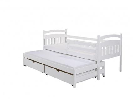 Funktionsbett Tagesbett ADAL XL Kiefer Massiv inkl.Rollrost /Gästebett