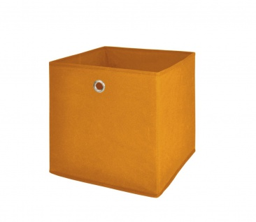 Faltbox Box Stoffbox- Delta - Größe: 32 x 32 cm / 3er Set - Orange