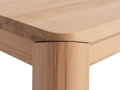 Couchtisch Tisch ANESE Eiche Massivholz 80x80 cm - Vorschau 2