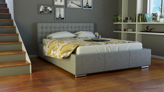 Polsterbett Bett Doppelbett DAMASO 200x200cm inkl.Bettkasten