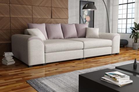 Big Sofa Couchgarnitur WELLS Megasofa Sofa in Beige-Hellrosa