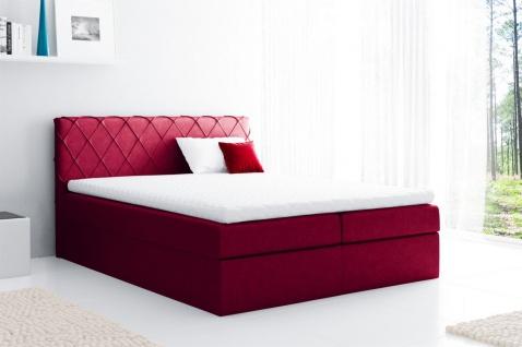 Boxspringbett Schlafzimmerbett GRETA 120x200cm Stoff Rot