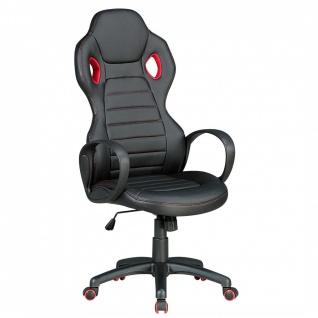 Drehstuhl Bürostuhl Chefsessel NAPOLI - Schwarz / Rot