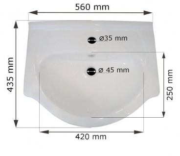 Badmöbel Set 6-Tlg Wenge matt SEVILLA L inkl.Waschtisch - Vorschau 2