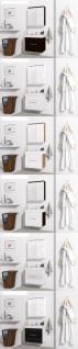 Badmöbel Set 3-Tlg Wenge matt MINI inkl.Waschtisch - Vorschau 4