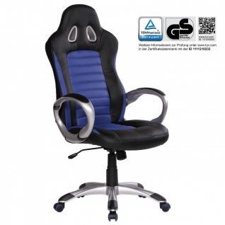 Drehstuhl Bürostuhl Chefsessel SPEED Blau / Schwarz