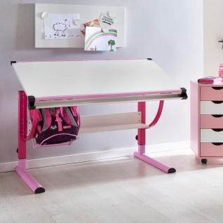 Schreibtisch Kinderschreibtisch MARWIN 120 x 60 cm Rosa / Weiss