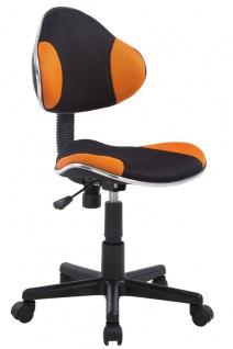 Drehstuhl Bürostuhl Stuhl - Nr 25 - Schwarz-Orange