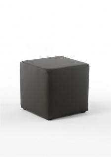 Sitzwürfel Sitzhocker Schminkhocker Hocker Kunstleder Braun 45x42x42cm