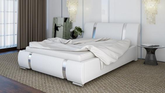 Polsterbett Bett Doppelbett CHLOE 200x200cm inkl.Bettkasten