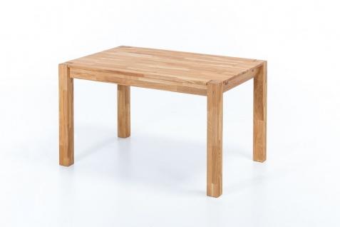 Esstisch Tisch DARVIN 140x90 Eiche massiv / Fuß 75x75 mm