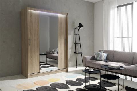 Schiebetürenschrank Schrank DOLM 04 Sonoma matt 150x213 cm inkl.LED