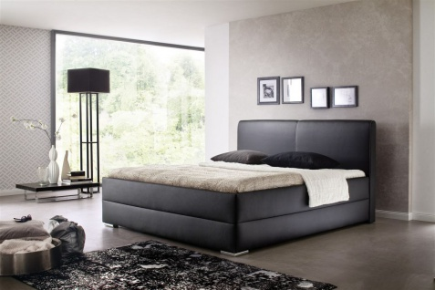 Polsterbett Bett Doppelbett Tagesbett - AUSTIN- 140x200 cm Schwarz