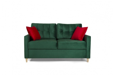 Sofa 2-Sitzer MOLDE Stoff (FUEGO) Grün