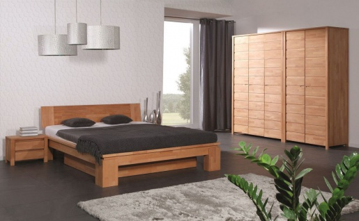 Massivholzbett Schlafzimmerbet MAISON XL Buche massiv 180x200 cm