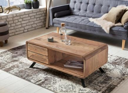 Couchtisch Massivholztisch BUANA 110x60x45 cm Schubladen Holz Akazie